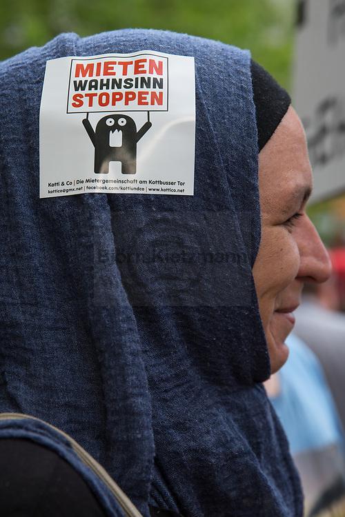 Berlin, Germany - 26.05.2017<br /> <br /> Tenants protest in Berlin. Demonstration &quot;... because the houses belong us!&quot; on the occasion of the 6-year exists of the neighborhood protest initiative &quot;Kotti &amp; co&quot;.<br /> <br /> Mieter-Protest in Berlin. Demonstration &bdquo;&hellip; denn die H&auml;user geh&ouml;ren uns!&ldquo; anlaesslich des 6-jaehrigen bestehen der Nachbarschafts-Protestinitiative &quot;Kotti &amp; co&quot;.<br /> <br /> Photo: Bjoern Kietzmann
