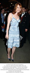 Actress ALICIA WITT at a reception in London on 25th September 2003.PND 150