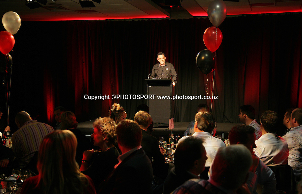 Vodafone Warriors CEO Wayne Scurrah at the pre match dinner function prior to the start of the match between the Vodafone Warriors and the Penrith Panthers at Mt Smart Stadium, Auckland on Friday 22 June 2007. Photo: Andrew Cornaga/PHOTOSPORT<br />