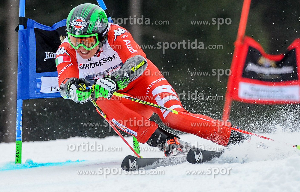 01.03.2015, Kandahar, Garmisch Partenkirchen, GER, FIS Weltcup Ski Alpin, Garmisch Partenkirchen, Riesenslalom, Herren, 1. Lauf, im Bild Florian Eisath (ITA) // Florian Eisath of Italy in action during 1st run for the men's Giant Slalom of the FIS Ski Alpine World Cup at the Kandahar in Garmisch Partenkirchen, Germany on 2015/03/01. EXPA Pictures © 2015, PhotoCredit: EXPA/ Erich Spiess