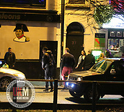Manchester UK  24.12.2016: Images from Manchesters Gay Village during the Mad Friday celebrations this on the 23 and 24th of December,<br /> <br /> A black man stands  screaming in the street  &quot; I am the don&quot;