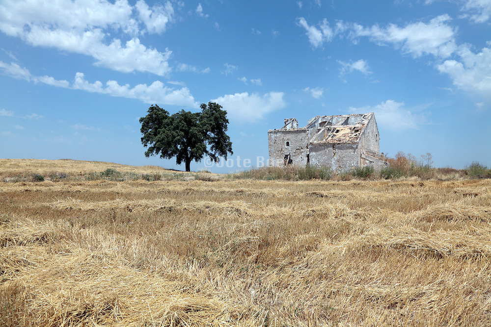 abandoned rural farm house Spain Europe