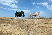 abandoned rural farm house Spain Europe