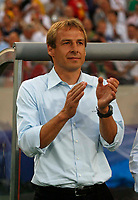 Photo: Glyn Thomas.<br />Germany v Portugal. Third Place Playoff, FIFA World Cup 2006. 08/07/2006.<br /> Germany's manager Jurgen Klinsmann applauds his players.