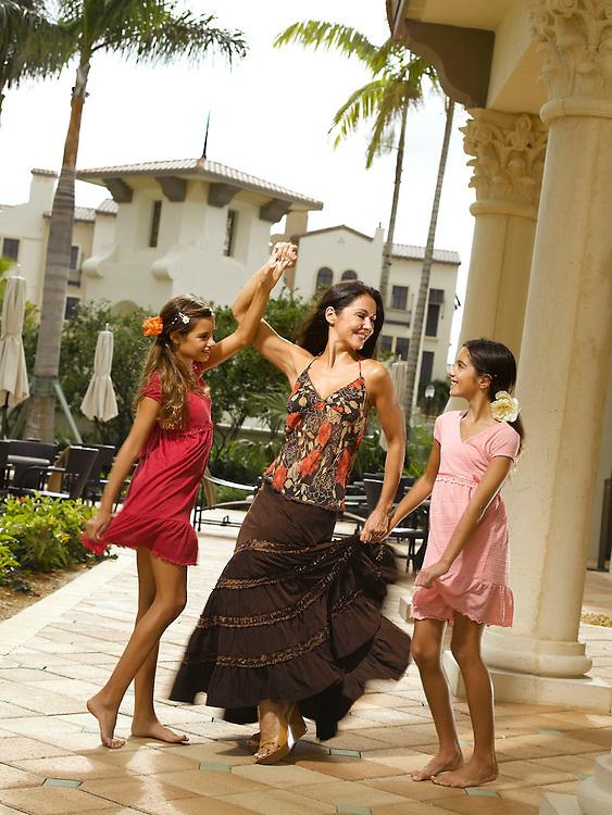 Lifestyle women and children Flamenco dancing