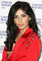 Cara De La Hoyde arriving at James Ingham's London Marathon fundraising event, Jog On To Cancer, in aid of Cancer Research UK at The Roof Gardens in Kensington, London. To find out more about Cancer Research UK's 2017 marathon team visit cancerresearchuk.org/sportschallenges, 12 April 2017, Photo by Brett D. Cove