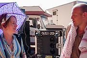 Man and lady at Middle East Tek, Wadi Rum, Jordan, 2008