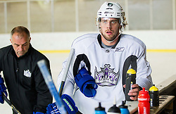 Matja Kopitar and his son Anze Kopitar, NHL star and player of Los Angeles Kings during practice session and press conference before departure to USA, on September 3, 2014 in Ledna dvorana Bled, Slovenia. Photo by Vid Ponikvar  / Sportida.com