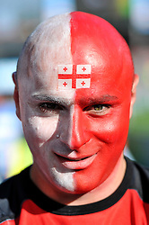 A general view of a Georgia supporter - Mandatory byline: Patrick Khachfe/JMP - 07966 386802 - 25/09/2015 - RUGBY UNION - Kingsholm Stadium - Gloucester, England - Argentina v Georgia - Rugby World Cup 2015 Pool C.