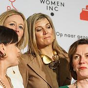 NLD/ALeiden/20160307 - Koningin Maxima bij bijeenkomst van Women Inc., Koningin Maxima  en Jannet Vaessen