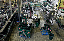 CHIMAY, BELGIUM - JAN 9-2003 - In 1862 the monks of the Abbey of Notre Dame de Scourmont, started brewing Chimay beer as a means of supporting themselves. However today, the monks do not directly participate in the beer production. The brewery is a fully automated modern facility.(PHOTO © JOCK FISTICK)
