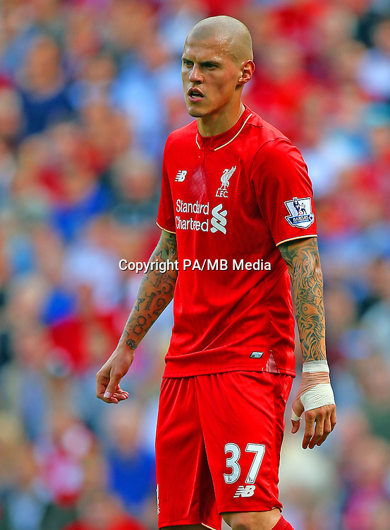 Liverpool's Martin Skrtel during the Barclays Premier League match at Anfield, Liverpool.