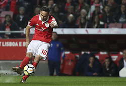 February 3, 2018 - Lisbon, Portugal - Benfica's forward Jonas shoots the ball during the Portuguese League  football match between SL Benfica and Rio Ave FC at Luz  Stadium in Lisbon on February 3, 2018. (Credit Image: © Carlos Costa/NurPhoto via ZUMA Press)