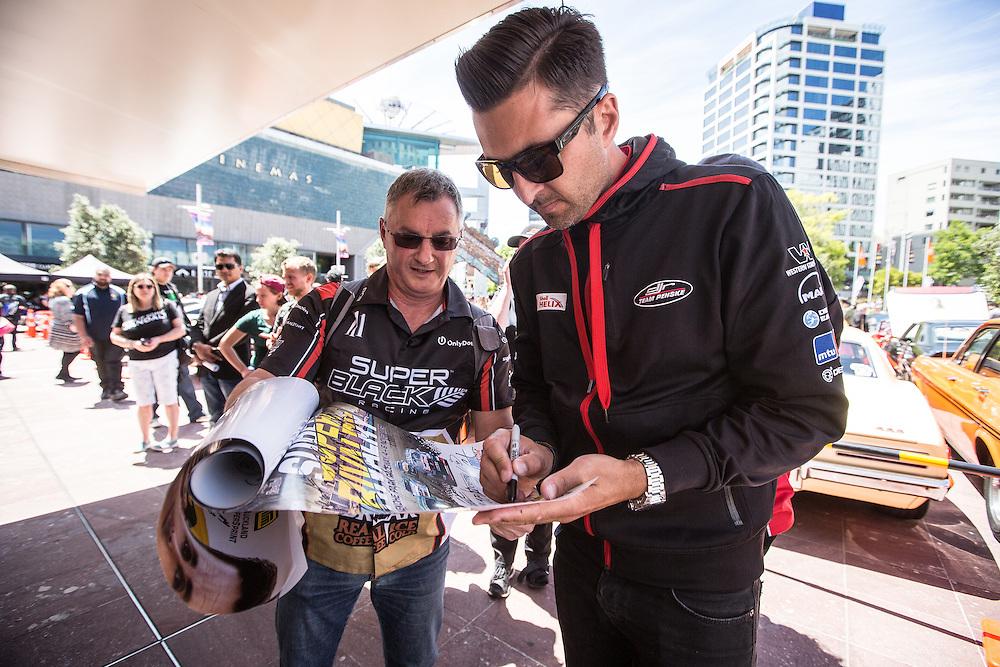 V8 Super car fan day. Fabian Coulthard. 3 November 2016.  Photo:Gareth Cooke/Subzero Images