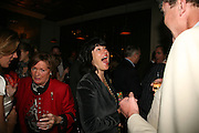Christianne Amanpour and Jeremy Clarkson, A A Gill party to celebrate the  publication of Table Talk, a collection of his reviews. Hosted by Marco Pierre White at <br />