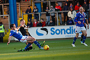during the Sky Bet League 2 match between Carlisle United and Portsmouth at Brunton Park, Carlisle, England on 21 November 2015. Photo by Craig McAllister.