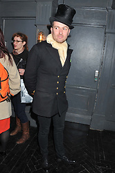 THOMAS ZATORSKI at a private view of art works by Annie Morris entitled 'There is A Land Called Loss' held at Pertwee Anderson & Gold Gallery, 15 Bateman Street, London W1 on 2nd February 2012.