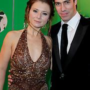 NLD/Scheveningen/20111106 - Premiere musical Wicked, Celine Purcell en partner Oren Schrijver
