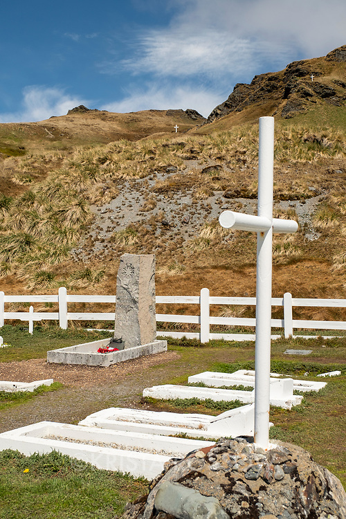 Sir Ernest Henry Shackleton's grave is in the cemetery near the old whaling station at Grytviken on the north coast of South Georgia Island.