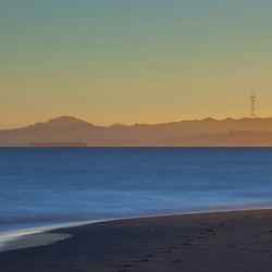 Sutro Tower and the San Francisco Bay as seen from Alameda