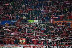 VIENNA, AUSTRIA - Thursday, October 6, 2016: Austria supporters during the 2018 FIFA World Cup Qualifying Group D match against Wales at the Ernst-Happel-Stadion. (Pic by David Rawcliffe/Propaganda)