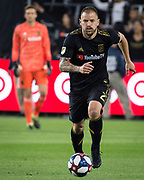 LAFC defender Jordan Harvey (2) in action during a MLS soccer match against the FC Dallas in Los Angeles, Thursday, May 16, 2019. LAFC defeated FC Dallas 2-0.  (Ed Ruvalcaba/Image of Sport)
