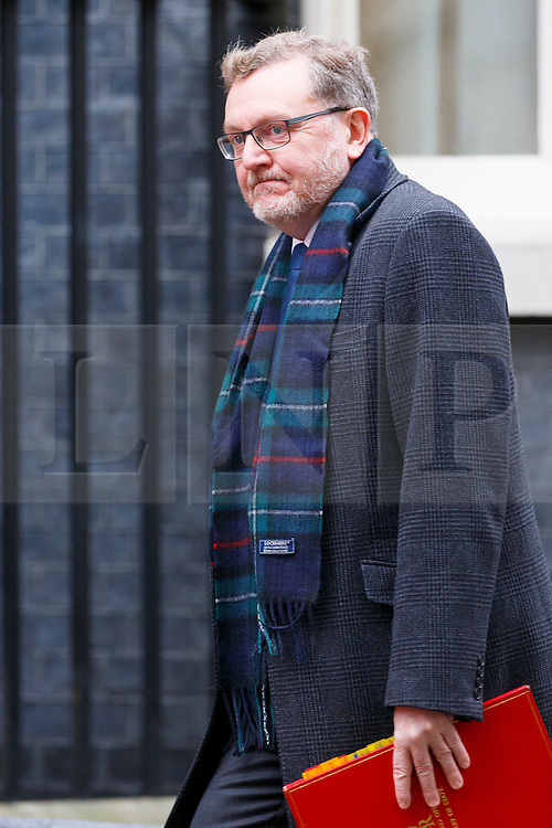 © Licensed to London News Pictures. 21/02/2017. London, UK. Scottish Secretary DAVID MUNDELL attends a cabinet meeting in Downing Street, London on Tuesday, 21 February  2017. Photo credit: Tolga Akmen/LNP