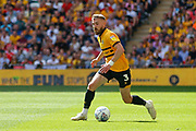 Newport County defender Dan Butler (3) during the EFL Sky Bet League 2 Play Off Final match between Newport County and Tranmere Rovers at Wembley Stadium, London, England on 25 May 2019.