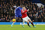 Wayne Rooney of Manchester United on the ball during the Barclays Premier League match between Chelsea and Manchester United at Stamford Bridge, London, England on 7 February 2016. Photo by Phil Duncan.