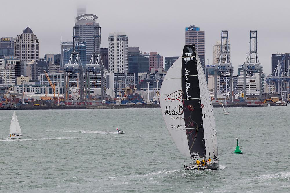 NEW ZEALAND. 11th March 2012. Volvo Ocean Race Leg 4. Leg finish Auckland. Abu Dhabi Ocean Racing.