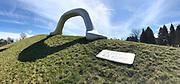 Österreichischer Skulpturenpark (Austrian Sculptures Park), Premstätten.<br /> Peter Weibel, Die Erdkugel als Koffer, 2004