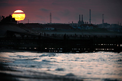 UK ENGLAND NORFOLK WALCOT 20MAY07 - Sunset at the beach in Walcott, with Bacton natural Gas Terminal in the background on the north Norfolk coast...jre/Photo by Jiri Rezac..© Jiri Rezac 2007..Contact: +44 (0) 7050 110 417.Mobile:  +44 (0) 7801 337 683.Office:  +44 (0) 20 8968 9635..Email:   jiri@jirirezac.com.Web:    www.jirirezac.com..© All images Jiri Rezac 2007 - All rights reserved.
