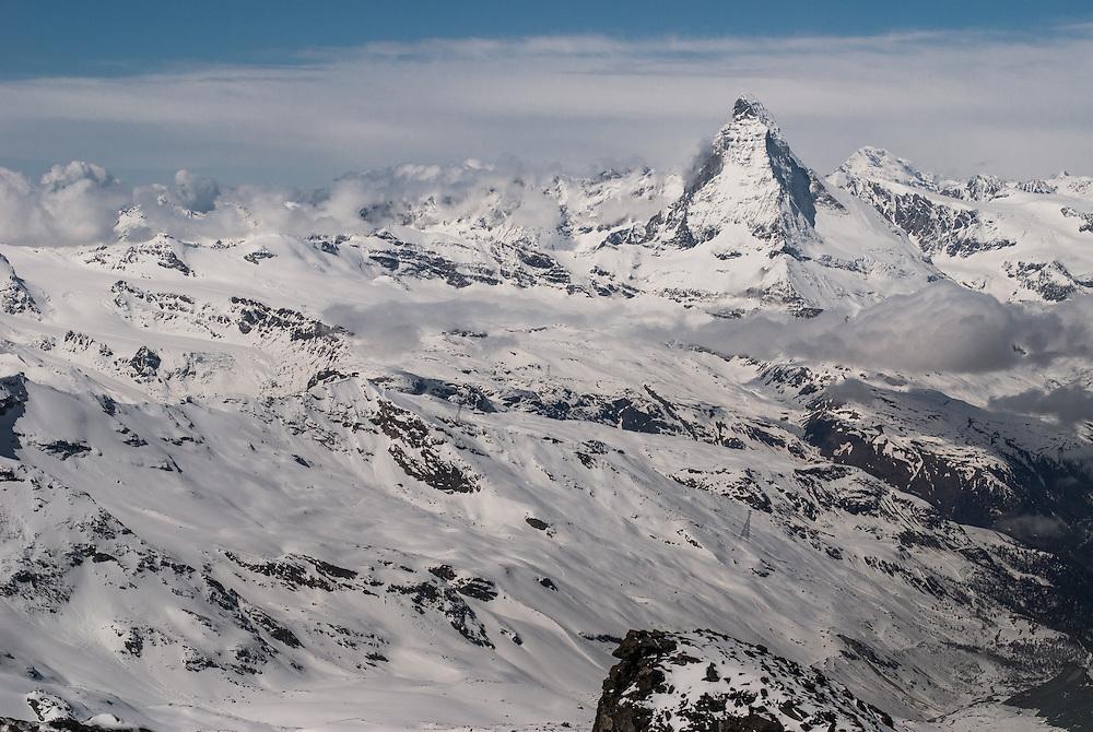 Beautiful Matterhorn Cervino stands alone