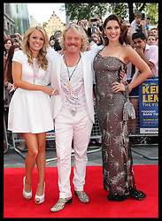 Rosie Parker, Leigh Francis and Kelly Brook arriving at the premiere of Keith Lemon The Film in London, Monday, 20th August 2012. Photo by: Stephen Lock / i-Images