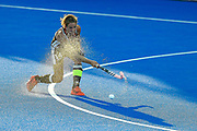 Janne Muller-Wieland captain of Germany (14) during the Vitality Hockey Women's World Cup 2018 Pool C match between Germany and Argentina at the Lee Valley Hockey and Tennis Centre, QE Olympic Park, United Kingdom on 25 July 2018. Picture by Martin Cole.