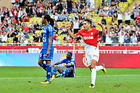 Joie de  Radamel Falcao (AS Monaco) - Bakary Kone (Strasbourg) - Kader Mangane (Strasbourg)