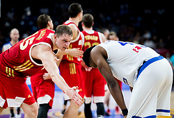 Timofey Mozgov of Russia and Thanasis Antetokounmpo of Greece during basketball match between National Teams of Greece and Russia at Day 14 in Round of 16 of the FIBA EuroBasket 2017 at Sinan Erdem Dome in Istanbul, Turkey on September 13, 2017. Photo by Vid Ponikvar / Sportida