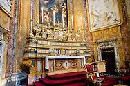 Roma 6 Luglio 2013<br /> ILa chiesa di Santa Maria Maddalena , nel rione Colonna. Rappresenta uno dei pochi e dei più begli esempi dell'arte rococò in Roma. E' la sede centrale dell'ordine dei Camilliani.L'altare maggiore<br /> Rome July 6, 2013<br /> The Santa Maria Maddalena is a Roman Catholic church