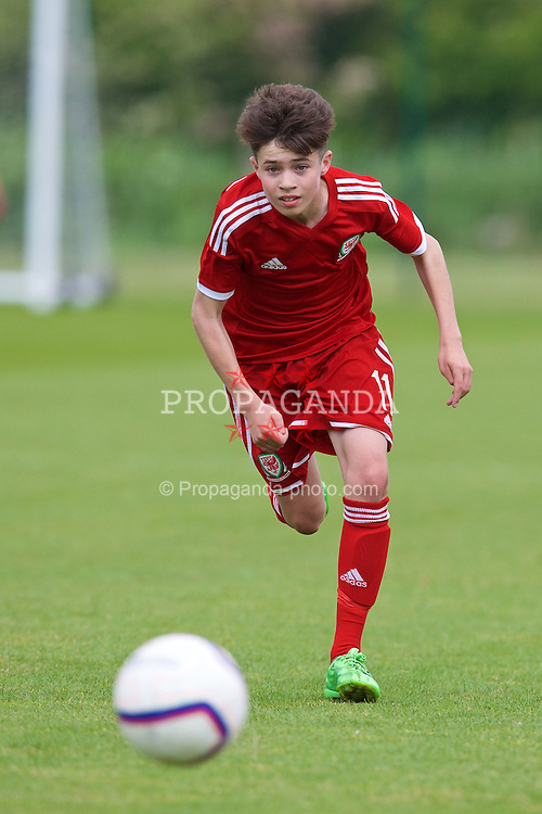 NEWPORT, WALES - Wednesday, May 27, 2015: Regional Development Boys' Neco Williams during the Welsh Football Trust Cymru Cup 2015 at Dragon Park. (Pic by David Rawcliffe/Propaganda)
