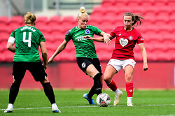 Danique Kerkdijk of Brighton and Hove Albion Women challenges Charlie Wellings of Bristol City - Mandatory by-line: Ryan Hiscott/JMP - 07/09/2019 - FOOTBALL - Ashton Gate - Bristol, England - Bristol City Women v Brighton and Hove Albion Women - FA Women's Super League