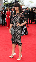 Claudia Winkleman arriving at the BAFTA Television Awards in London, Sunday, May 12th  2013.  Photo by: Stephen Lock / i-Images