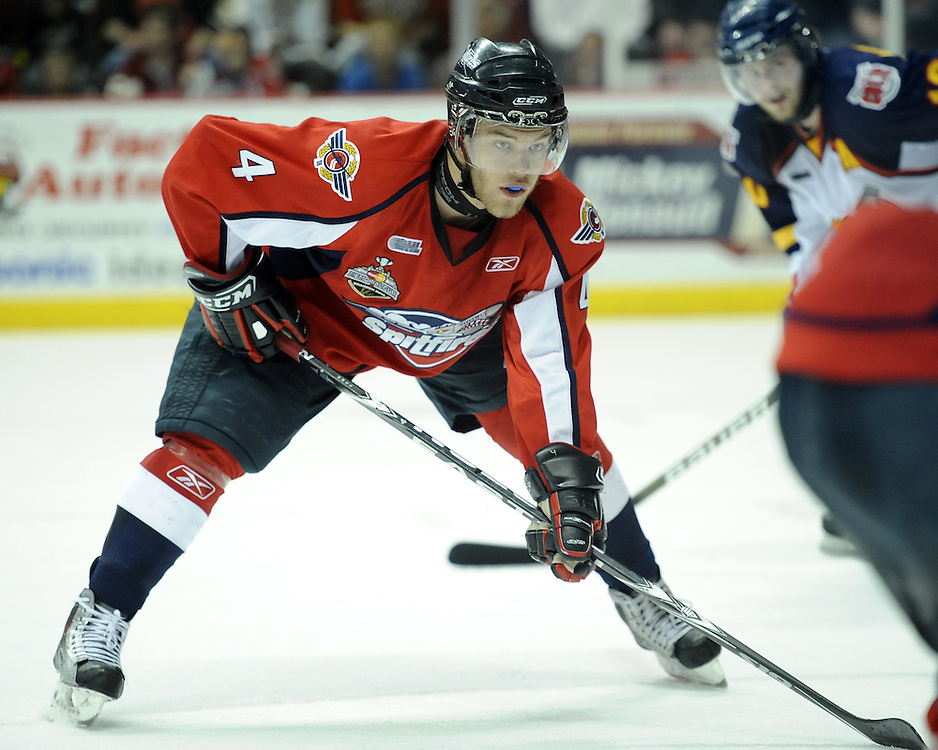 Taylor Hall of the Windsor Spitfires in Game 4 of the 2010 Rogers OHL Championship Series in Windsor on Tuesday May 4. Photo by Aaron Bell/OHL Images