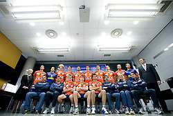 Players of ACH at press conference of volleyball club ACH Volley before new season 2010/2011, on November 5, 2010, in Ljubljana, Slovenia. (Photo by Vid Ponikvar / Sportida)