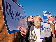 06 DECEMBER 2011 - PARADISE VALLEY, AZ: Mitt Romney supporters at Hermosa Inn Tuesday.  Former Vice President Dan Quayle endorsed Republic Presidential hopeful Mitt Romney at the Hermosa Inn in Paradise Valley Tuesday.   PHOTO BY JACK KURTZ