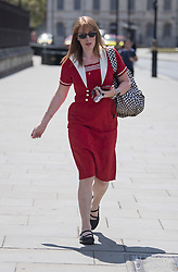 © Licensed to London News Pictures. 02/06/2020. London, UK. Deputy Labour Party Leader ANGELA RAYNER MP Is seen arriving at The Houses of Parliament in London ahead of a 90-minute debate on the new voting system and a series of votes this afternoon. Government has introduced further measures to slowly ease lockdown, which was introduced to fight the spread of the COVID-19 strain of coronavirus. Photo credit: Ben Cawthra/LNP