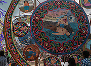 The intricate designs of the kites often hold a religious, prophetic, or political message.