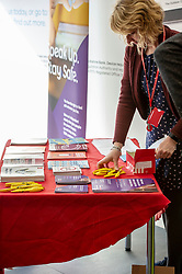 Pictured: Rachel Charlton, Trading Standards gets the leaflets associated with the campaign ready<br />
