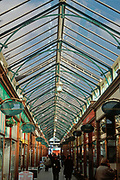 A752N5 Glass roofed Victoria shopping arcade Great Yarmouth Norfolk England