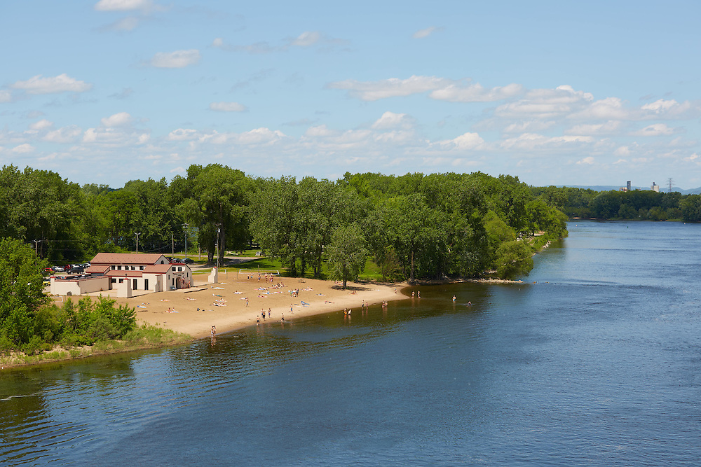 Buildings; Downtown; Location; Outside; Time/Weather; day; Downtown La Crosse views; Pettibone Beach Mississippi River