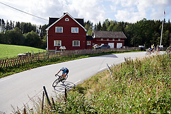 Making a break for it during Ladies Tour of Norway 2019 - Stage 2, a 131 km road race from Mysen to Askim, Norway on August 23, 2019. Photo by Sean Robinson/velofocus.com